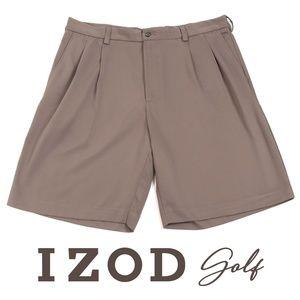 Izod Pleated Tan Golf Shorts - EUC - 36